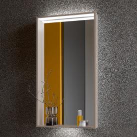 Keuco X-Line Spiegel mit DALI-LED-Beleuchtung trüffel seidenmatt, ohne Spiegelheizung