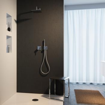 Keuco IXMO Duschsystem, mit Einhebelmischer IXMO, eckig