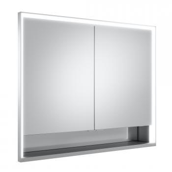 Keuco Royal Lumos Unterputz-Spiegelschrank mit LED-Beleuchtung mit 2 Türen