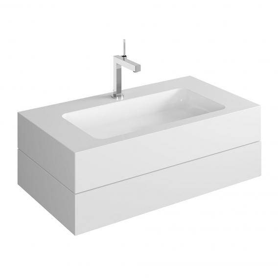 Keuco Edition 300 Waschtisch mit Waschtischunterschrank mit 1 Auszug Front weiß / Korpus weiß