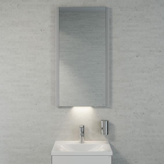 Keuco Royal Reflex Waschtisch mit Waschtischunterschrank und LED-Lichtspiegel Front weiß hochglanz / Korpus weiß hochglanz