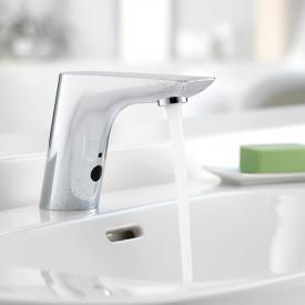 Kludi BALANCE E Elektronische Waschtischarmatur mit Temperaturregulierung, für Niederdruck netzbetrieben