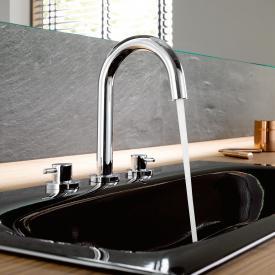 Kludi BOZZ 3-Loch Waschtischarmatur mit Hebelgriffen