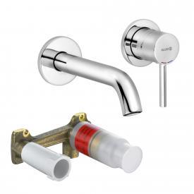 Kludi BOZZ Wand-Waschtischarmatur Unterputz mit Unterputz-Einbaukörper Ausladung: 180 mm, chrom