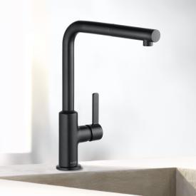Kludi L-INE S Küchenarmatur, Auslauf schwenkbar schwarz matt