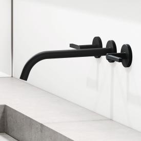 Kludi NOVA FONTE Puristic Waschtischarmatur für Wandmontage schwarz matt, Ausladung: 240 mm