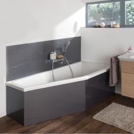 Koralle T200 Raumspar-Badewanne, Einbau weiß