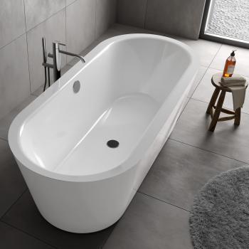 Koralle T700 freistehende Oval Badewanne weiß / weiß