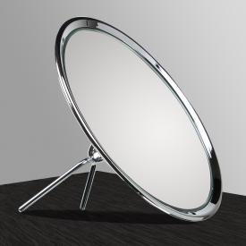 KOH-I-NOOR TOELETTA einseitiger Stand-Kosmetikspiegel mit Klappständer Vergrößerung 6-fach, chrom