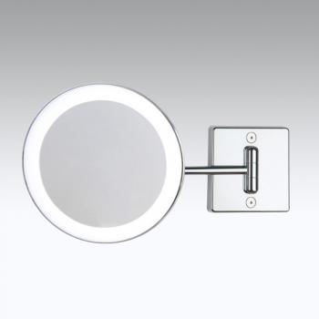 KOH-I-NOOR DISCOLO LED Wand-Kosmetikspiegel, starrer Arm, neigbar