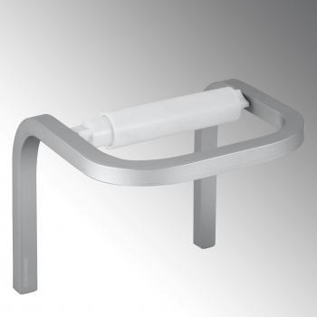 KOH-I-NOOR STICK Rollenhalter aluminium gebürstet/weiß