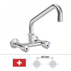 KWC Gastro Zweigriff-Küchenmischer mit Schwenkauslauf, für die Schweiz Ausladung 300 mm
