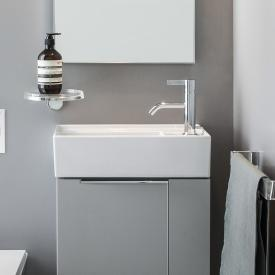 Kartell by LAUFEN Handwaschbecken, mit verdecktem Ablauf weiß, mit 1 Hahnloch