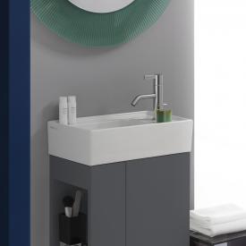 Kartell by Laufen Handwaschbecken, mit verdecktem Überlauf weiß, mit Clean Coat und 1 Hanloch