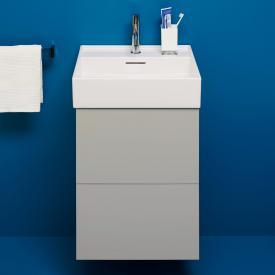 Kartell by Laufen Handwaschbeckenunterschrank mit 2 Auszügen Front kieselgrau / Korpus kieselgrau
