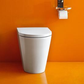 Kartell by Laufen Stand-Tiefspül-WC, spülrandlos weiß, mit Clean Coat