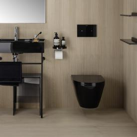 Kartell by Laufen Wand-Tiefspül-WC, spülrandlos schwarz