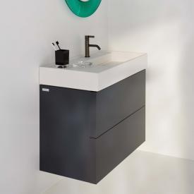 Kartell by Laufen Waschtischunterschrank mit 2 Auszügen Front schiefer / Korpus schiefer