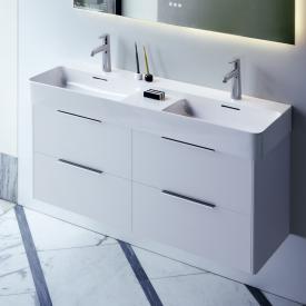 LAUFEN Base für VAL Waschtischunterschrank mit 4 Auszügen Front weiß matt / Korpus weiß matt