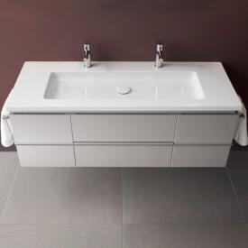 Laufen Case for Living Square Waschtischunterschrank mit 2 Auszüge und 2 Türen Front weiß glanz / Korpus weiß glanz