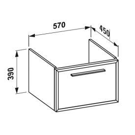 Laufen Case Plus zu Pro Waschtischunterschrank Front Glas weiß/Korpus weiß