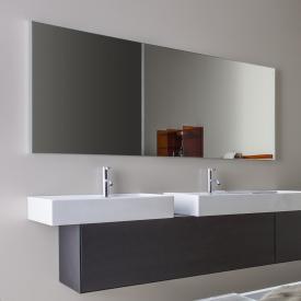 Laufen frame 25 Spiegel ohne Beleuchtung silber eloxiert