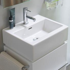 LAUFEN Living City Handwaschbecken mit 1 Hahnloch, mit Überlauf, ungeschliffen