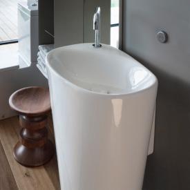 LAUFEN Palomba Waschtisch mit integrierter Säule weiß, mit 1 Hahnloch, mit verdecktem Überlauf