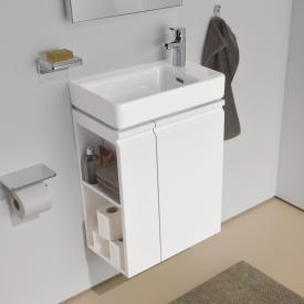 LAUFEN Pro S Handwaschbeckenunterschrank mit 1 Tür und Seitenablage Front weiß matt / Korpus weiß matt