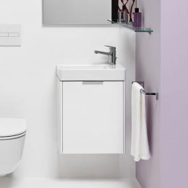 LAUFEN Pro S Handwaschbecken mit Base Waschtischunterschrank mit 1 Tür Front weiß glanz / Korpus weiß glanz, WT weiß, mit Clean Coat, mit 1 Hahnloch