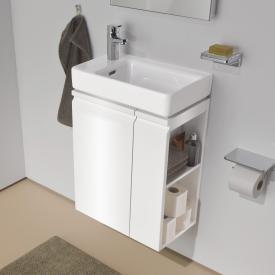 Laufen Pro S Waschtischunterschrank mit 1 Tür und Seitenablage Front weiß glanz / Korpus weiß glanz