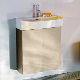 LAUFEN SONAR Waschtischunterschrank mit 2 Türen Front gold / Korpus gold