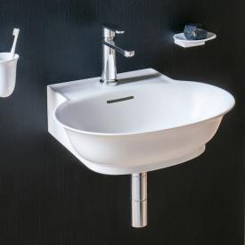 LAUFEN The New Classic Handwaschbecken weiß matt, mit 1 Hahnloch, mit Überlauf, ungeschliffen