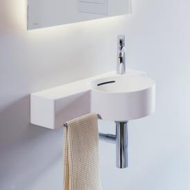 Laufen VAL Handwaschbecken weiß matt, 1 Hahnloch, mit Überlauf