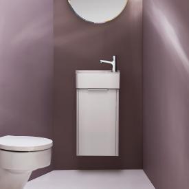 LAUFEN VAL Handwaschbecken mit Base Waschtischunterschrank mit 1 Tür Front weiß glanz/ Korpus weiß glanz