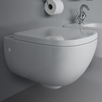 Laufen Palomba Wand-Tiefspül-WC, spülrandlos weiß, mit Clean Coat