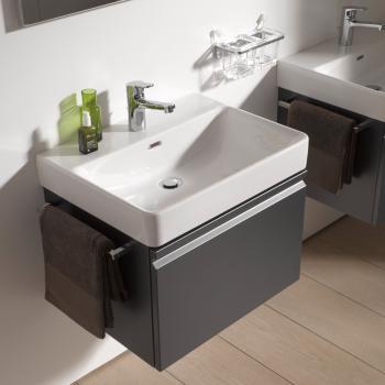 LAUFEN Pro S Waschtischunterschrank mit 1 Auszug Front graphit / Korpus graphit, mit Innenschublade