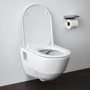 Laufen Pro Wand-Tiefspül-WC, spülrandlos, mit WC-Sitz weiß