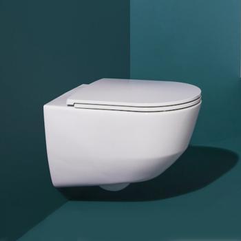 Laufen Pro Wand-Tiefspül-WC, spülrandlos, mit WC-Sitz weiß, mit Clean Coat