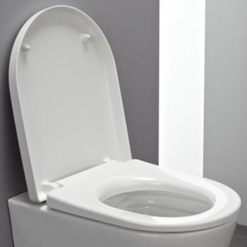 Laufen Pro WC-Sitz mit Deckel für offene Befestigung weiß, mit Absenkautomatik