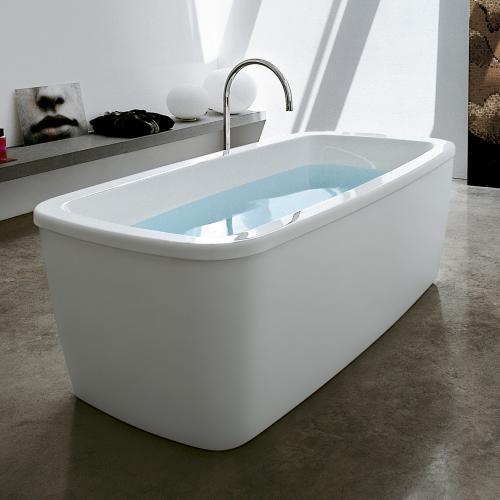 Laufen Palomba Freistehende ovale Badewanne weiß