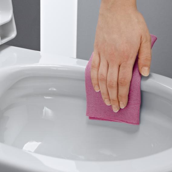 LAUFEN Pro Wand-Tiefspül-WC, spülrandlos, mit WC-Sitz weiß, mit CleanCoat
