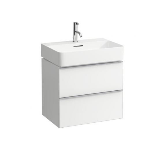 Laufen VAL Waschtisch mit Space Waschtischunterschrank mit 2 Auszügen weiß, mit Clean Coat, mit 1 Hahnloch, mit Überlauf