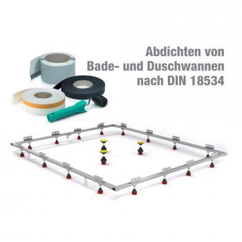 MEPA Duschwannen-Set MR Superflach XXL