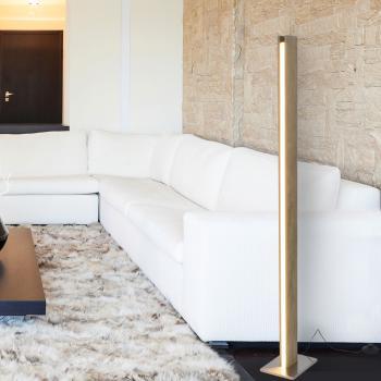 Näve Wood LED Stehleuchte mit Dimmer