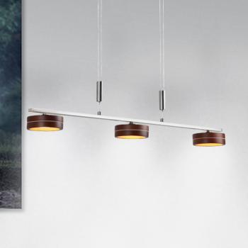 Näve Wood Satin LED Pendelleuchte 3-flammig