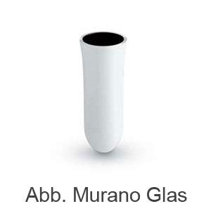 Newform morpho Ersatz Behälter für Bürstengarnitur aus Murano Glas weiß