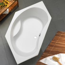 Ottofond Aqaba Sechseck-Badewanne, Einbau mit Fußgestell