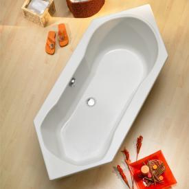 Ottofond Ravenna Sechseck-Badewanne, Einbau mit Fußgestell