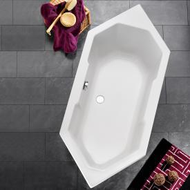 Ottofond Sierra Sechseck-Badewanne, Einbau mit Fußgestell